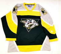 Nashville Predators jersey L mens  large RARE BLACK and mustard Starter NHL