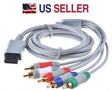 New HD TV Component RCA Audio Video AV Cable Cord Plug for Nintendo Wii U Wii