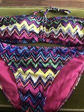 Primark Ladies Zigzag Chevron Halterneck Bikini UK 6 BNWT EU 34 US 2