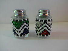 New listing Viva Afrika Beaded Salt & Pepper Shaker South Africa Ndebele Mpumalanga Handmade