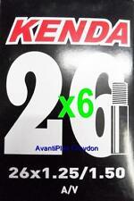 "6x Kenda 26"" Schrader Mtb Tube 26x1.25/1.5"" A/V S/V 36mm Valve 6-pack discount"
