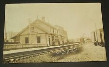PORT PERRY Ontario, GRAND TRUNK RWY STATION, Circa 1910 Herington Real Photo PC