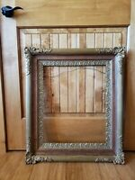 GORGEOUS ORNATE ANTIQUE OAK WOOD GOLD GESSO FRAME 16 x 20~Victorian ~E/C