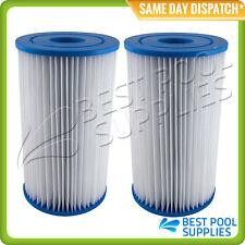 2 X Intex Type B / Krystal Clear Pool Cartridge Filter Element –