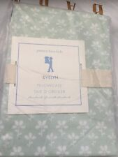 1 Pottery Barn Kids Evelyn Pillowcase Green Sage Nwt Floral Flower
