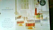 THRESHOLD QUALITY & DESIGN TELFORD SHORT 12.5 OZ GLASS TUMBLERS SET OF 4