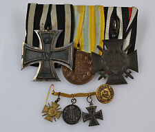 Kgr. Sachsen Ordensspange FAM EK II Frontkämpferkreuz mit Frackkette