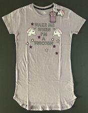 Einhorn Damen Nachthemd Pyjama Schlafshirt Big-Shirt Flieder XS-S-M-L-XL Primark