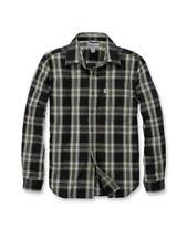 Carhartt Herren Essential Open Collar Karo Langarm Hemd