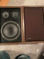 Criterion Lafayette L2 3-Way Vintage Stereo Shelf Speakers