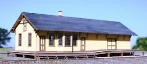 """HO Scale - New Freedom, PRR DEPOT """"LASER CUT WOOD KIT """"AME-141 A"""