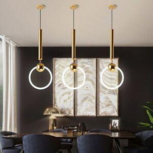 Nordic Kitchen Pendant Light Dining Room Ceiling Light Gold Bar Chandelier Light
