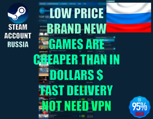 ✅STEAM ACCOUNT RUSSIA✅FULL ACCESS✅GAMES ARE CHEAPER✅NOT NEED VPN✅