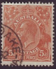 5d BROWN KGV SMALL MULTIPLE WATERMARK SUPERB FINE USED (A8788)