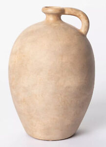 "Studio McGee Decorative 10""x7"" Weathered Jug Vase Brown Natural Target Threshold"