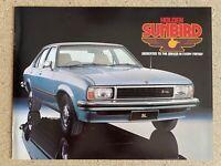 1978 Holden Sunbird original Australian sales brochure (3/78)