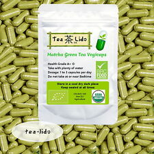 Matcha Green Tea Powder Vegicaps,  90 Capsules, 500mg, ORGANIC, Premium Quality