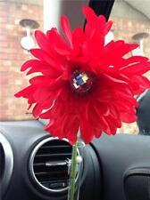 VW beetle red shaggy gerbera & gem dash board bud vase flower, universal