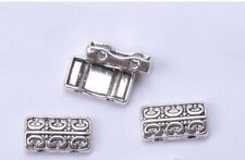 40PCS Tibetan Silver BEAD 2-holes charm loose Spacer Beads 14x7.7mm