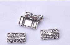 40PCS Tibetan Silver BEAD 2-holes charm loose Spacer Beads 14x7.7mm