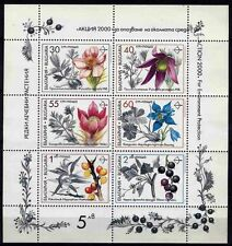 6374 BULGARIA 1991 Medicinal Plants Sheet MNH