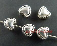 200pcs Tibet Silver Heart Shaped Spacers 5.5x6x4mm 61