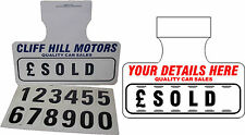 5 x Personalised For Sale Sign Board Car Price/Pricing Sun Visor, Vehicle Kit