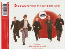 BOYZONE WHEN THE GOING GETS TOUGH CD SINGLE 3 TRACKS COMIC RELIEF