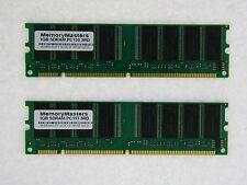 2GB (2X1GB) SDRAM MEMORY RAM PC133 NON-ECC NON-REG DIMM 16chip