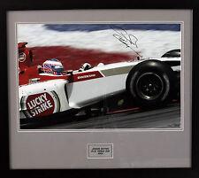 Jenson Button BAR HONDA F1 Foto autografata/incorniciata