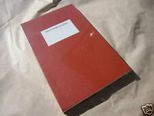 O-CHECK BURGUNDY WAXED COVER CANVAS JOURNAL NOTEBOOK POCKET PLAIN SCRIBBLE