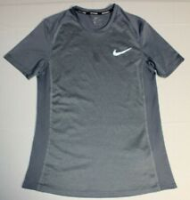 Mens Nike Dri-Fit Miller Running Short Sleeve Shirt Small Blue Heathered 833591