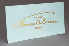 PRE CUT EDISON EARLY SIGNATURE WATER SLIDE DECAL for PHONOGRAPH RESTORATION