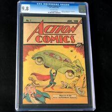 Action Comics #1 1976 Reprint 💥 CGC 9.8 💥 10 CENT SLEEPING BAG Superman Comic
