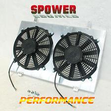 For Nissan Skyline R33 R34 GTS-T RB25DE Aluminum Radiator Fan Shroud +120W  Fan