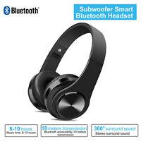 Bluetooth Stereo Headphone Over Ear Headset Wireless Earphone Noise Cancelling