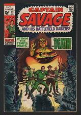 CAPT. SAVAGE AND HIS BATTLEFIELD RAIDERS #15, Marvel Comics, 1969, VG CONDITION