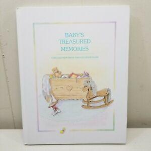 Baby Treasured Moments Memory Album Book Birth To 7 Years Vintage NO WRITING