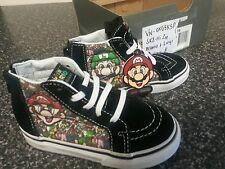 NEW Vans Sk8-Hi Zip Toddler Mario+ Luigi US 8 Sneakers Super Cute & Cool