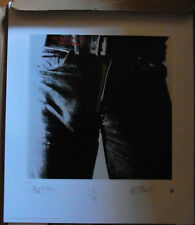"""ROLLING STONES """"Sticky Fingers""""signierte Lithographie"""