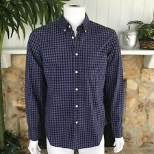 NWT J. Crew Factory Men's Blue Red Checked Long Sleeve Button Down Shirt Sz M