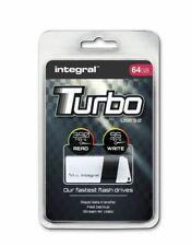 Integral TURBO 64GB USB 3.0 Flash Drive Up To 400MB/s Read / 80MB/s Write.