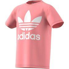 T-shirt manica corta bambina Adidas Original Trefoil FM5661 Rosa Cotone