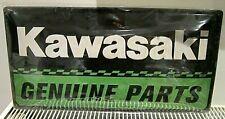 KAWASAKI GENUINE PARTS, EMBOSSED 3D XL METAL SIGN 50x25cm   GARAGE/ BIKER