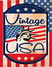 VINTAGE USA TRAVEL LARGE METAL TIN SIGN POSTER RETRO STYLE WALL PLAQUE