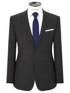 John Lewis Semi Plain Super 100s Wool Travel Suit Jacket Black 40S 44S New BNWT