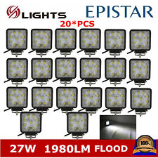 20X 27W LED Work Light Square Lamp Offroad Truck Ford Driving UTE Spot Pods Cube
