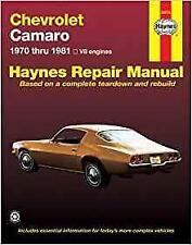 Haynes CHEVROLET CAMARO 70-81 Z28 RALLY SPORT RS Owners Service Manual Handbook