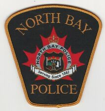 SILK SCREEN GOLD NORTH BAY POLICE-ONTARIO-CANADA