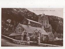 St Johns Church & Hall Barmouth Vintage RP Postcard 781a